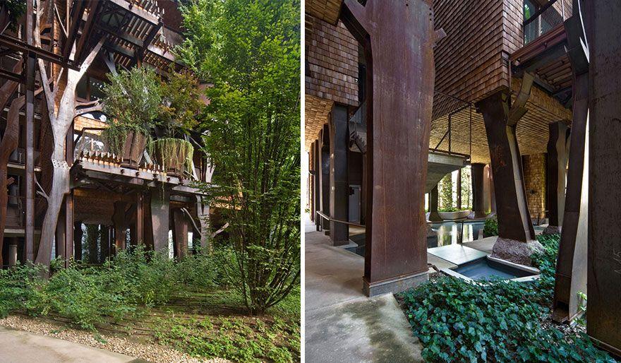 детали внутреннего двора и фундамента дома 25 green