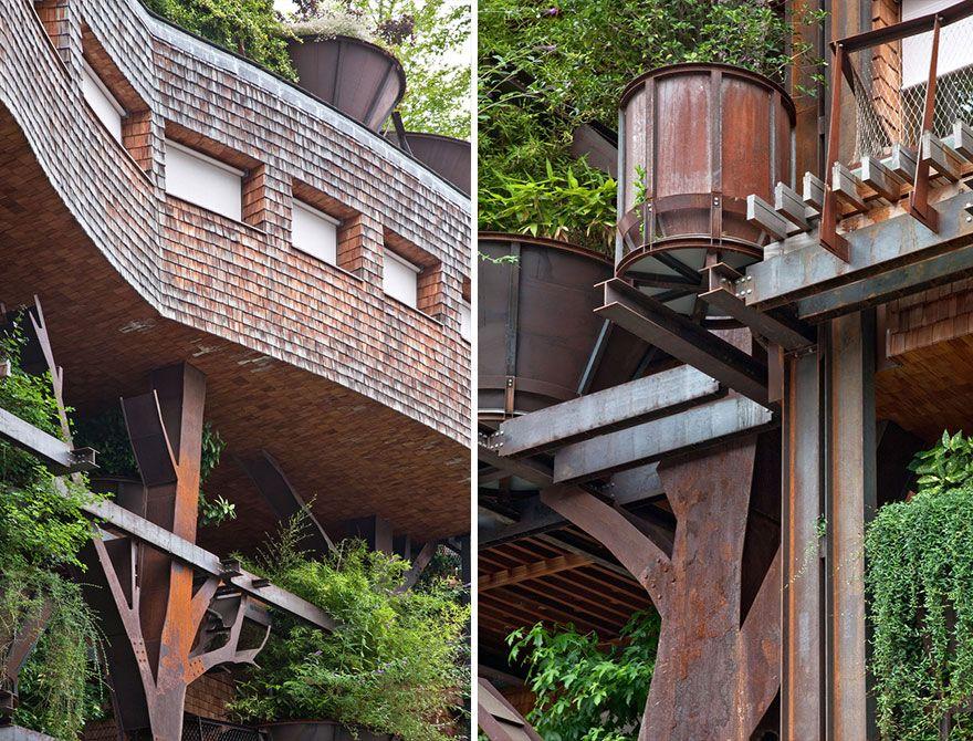 балконы и стены дома 25 green