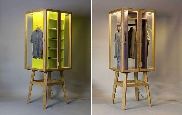 прозрачные шкафы-витрины