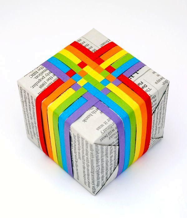 идеи упаковки подарков с применением цветной бумаги вместо банта