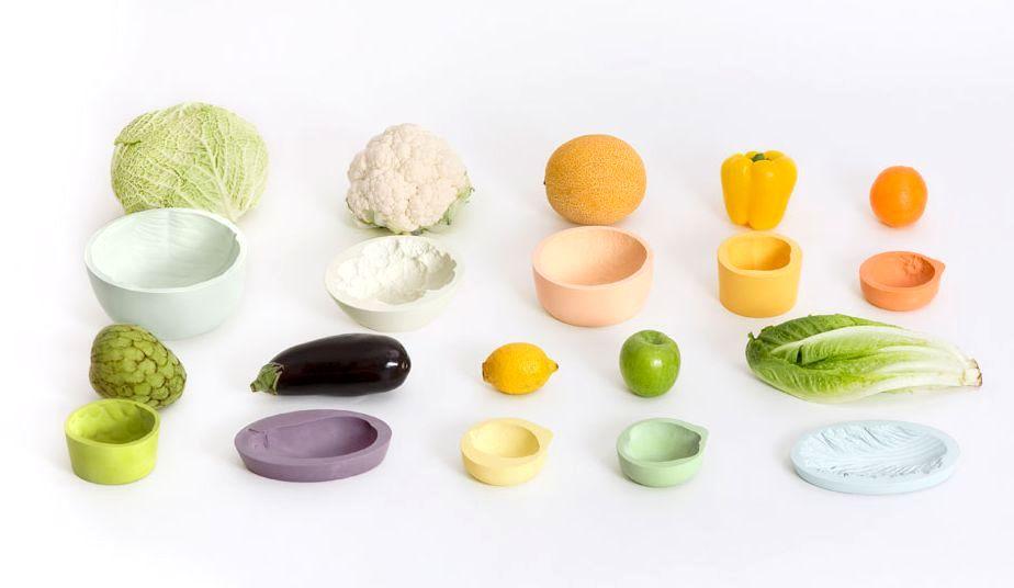 посуда в виде овощей и фруктов