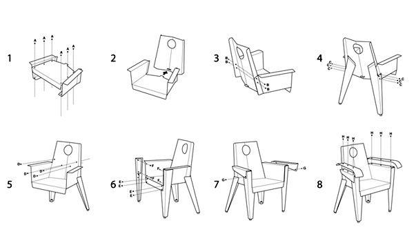 как сделать кресло из дорожного знака