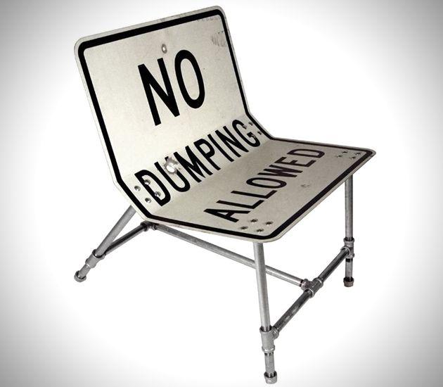 мебель из дорожного знака Tim Delger
