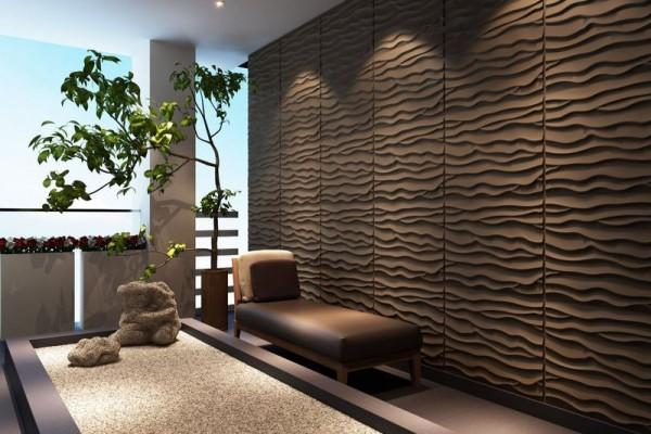 объемные стеновые панели в интерьере