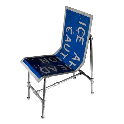 стул из дорожного знака Tim Delger