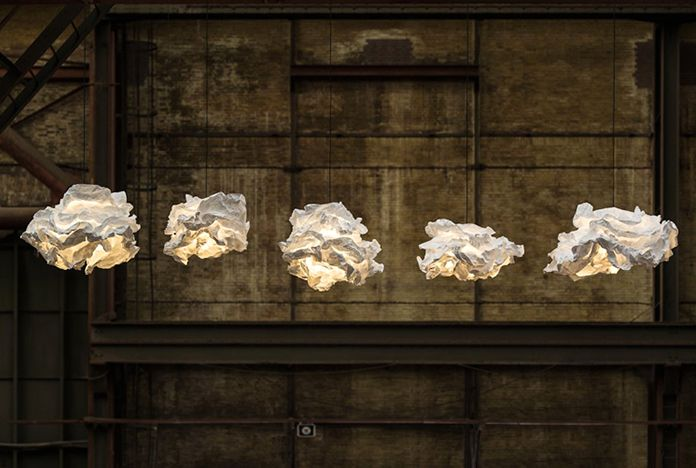 светильники в виде облака margje teeuwen erwin-zwier