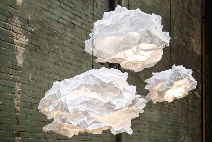 светильники в виде облаков от margje teeuwen erwin-zwier
