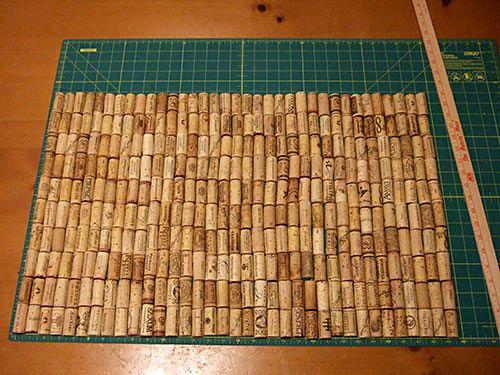 мастер-класс коврик из пробок своими руками