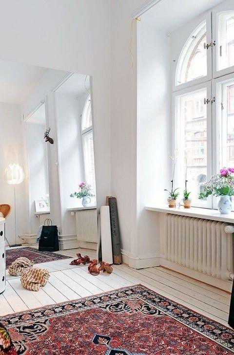 восточные ковры в интерьере скандинавского стиля