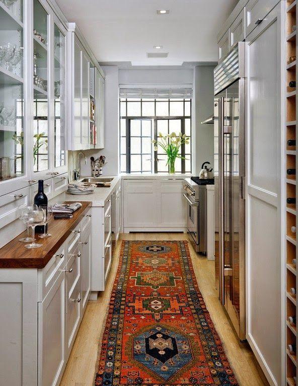 восточный палас в интерьере кухни