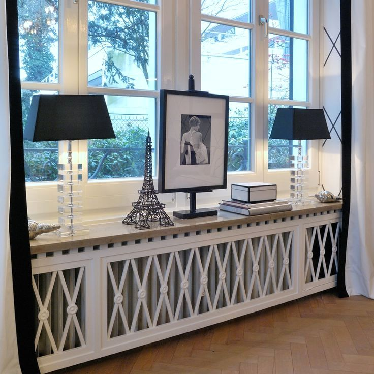 деревянные экраны для батарей отопления под окном