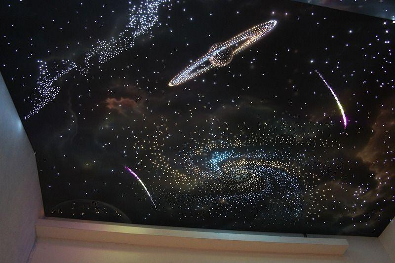 натяжной потолок Звездное небо с планетами