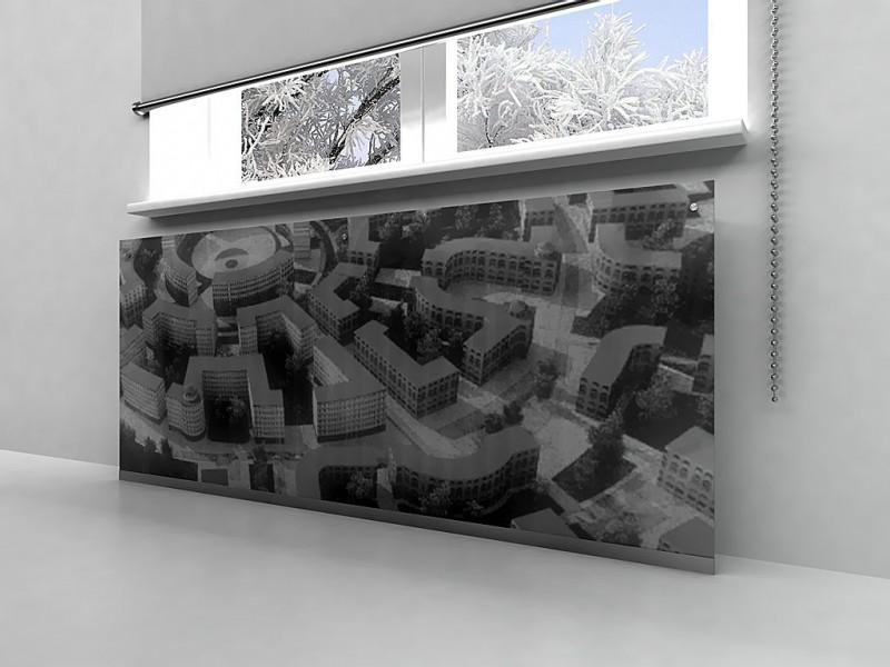 стеклянные экраны для батарей отопления с фотопечатью