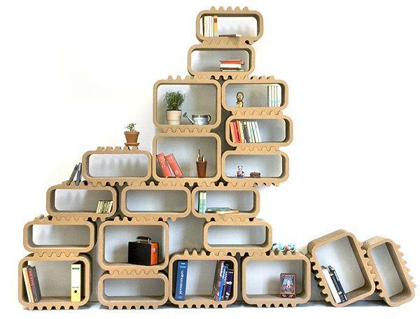 картонный модульный стеллаж