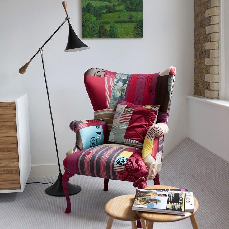 кресло в стиле лоскутного шитья