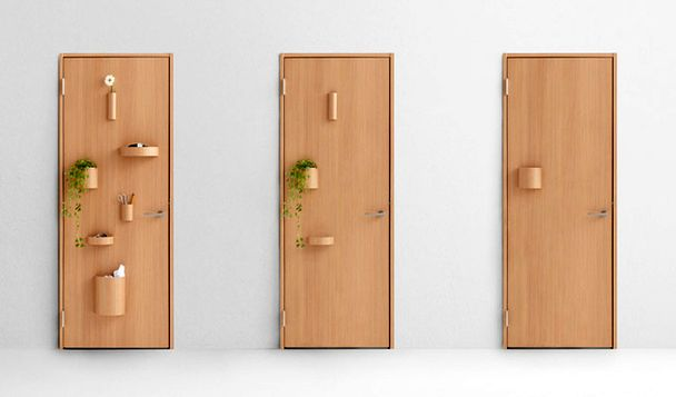 многофункциональные креативные двери Nendo Hang