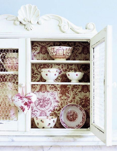 кухонный шкаф - декор мебели обоями
