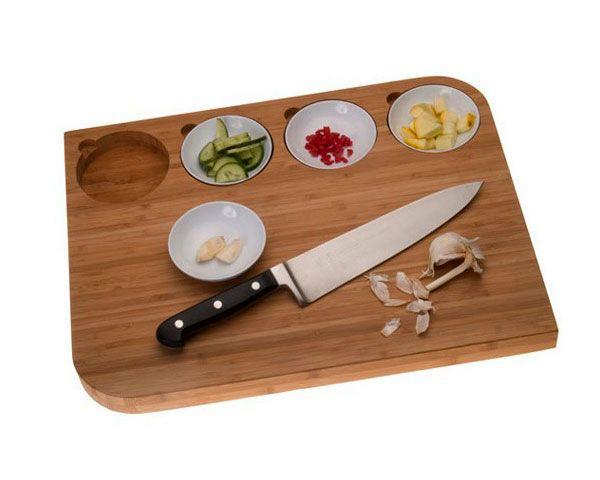 разделочные доски с выемками для тарелок