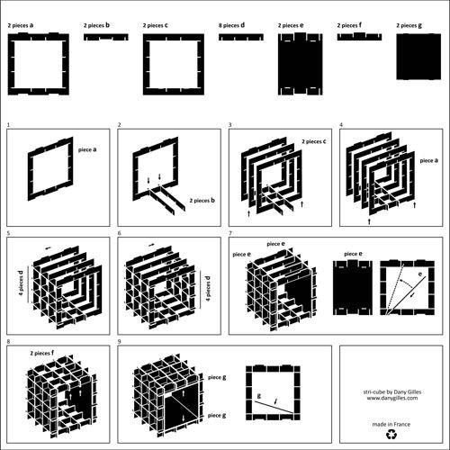 схема как сделать стеллаж конструктор своими руками из картона