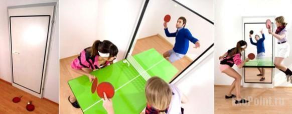 креативные двери - стол для настольного тенниса