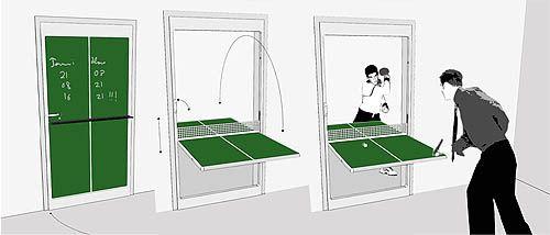 креативные двери - стол для пинг-понга