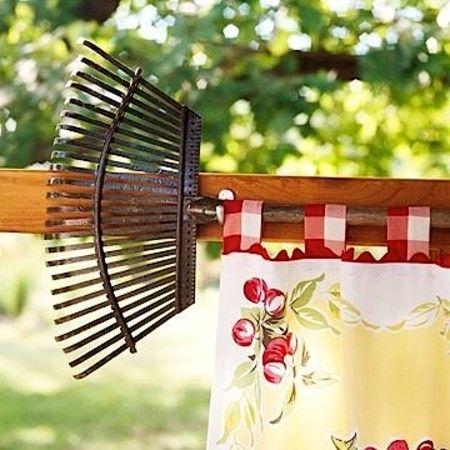 карниз для шторы из старых граблей