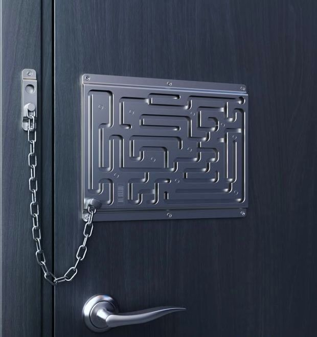 креативная дверная цепочка
