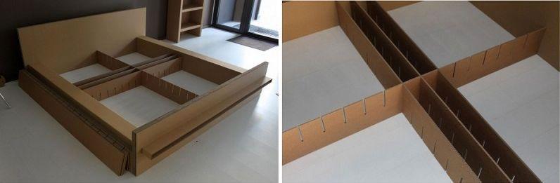кровать из картона slowslowdesign