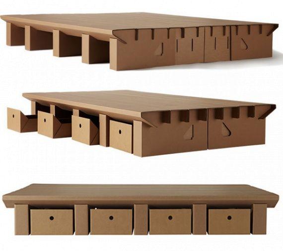 кровать из картона от Karton Group
