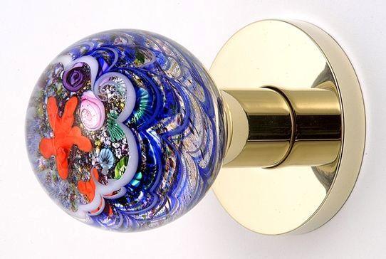 ручка кноб из муранского стекла