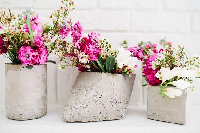 вазы из бетона своими руками 00