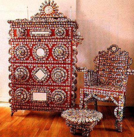декор мебели металлическими крышечками