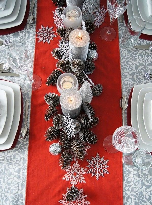 Decor De Noel Rouge Et Blanc