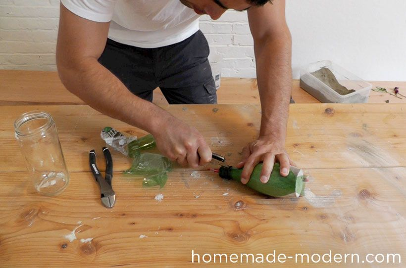 мастер-класс вазы из бетона 08