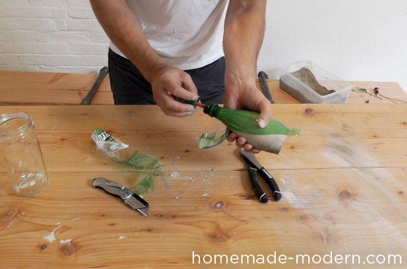 мастер-класс вазы из бетона 10