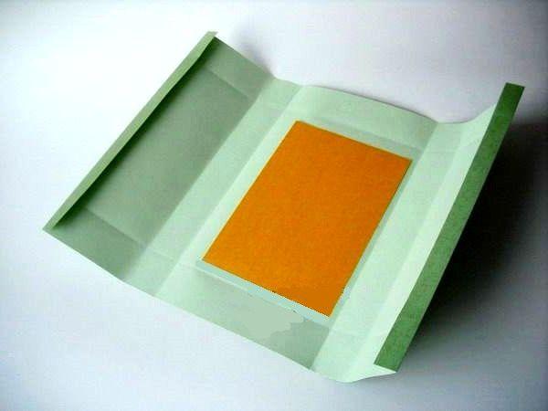 мастер-класс подарочная упаковка с силуэтом елочки шаг 2-1