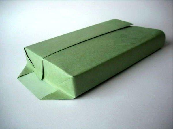 мастер-класс подарочная упаковка с силуэтом елочки шаг 5