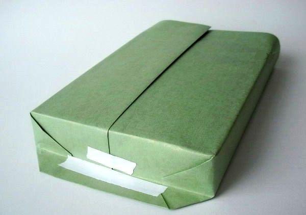 мастер-класс подарочная упаковка с силуэтом елочки шаг 6