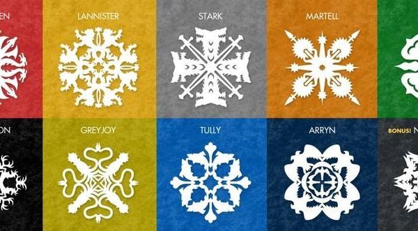 снежинки в стиле Игры престолов