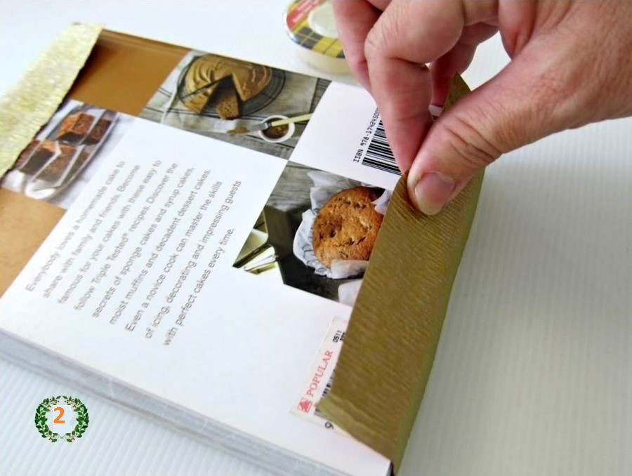 мастер-класс подарочная упаковка с елочкой шаг 2