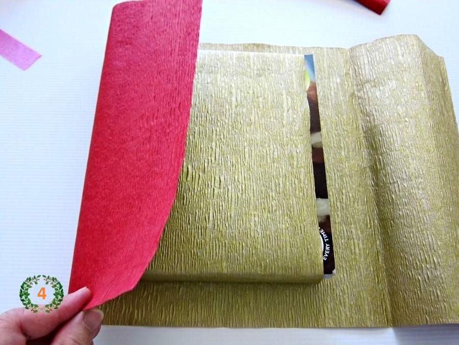 подарочная упаковка с елочкой шаг 3