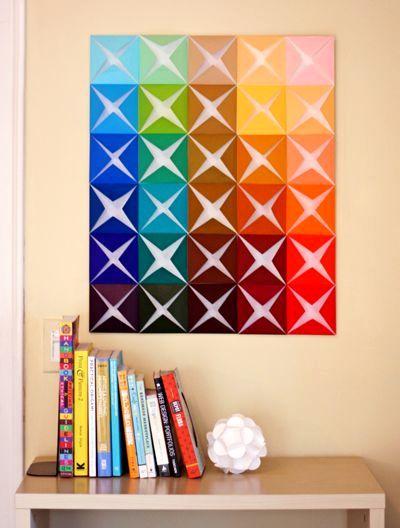 мастер-класс оригами на стену из бумаги 01