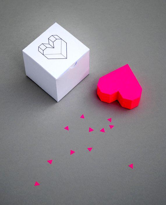 объемное сердечко в виде коробочки