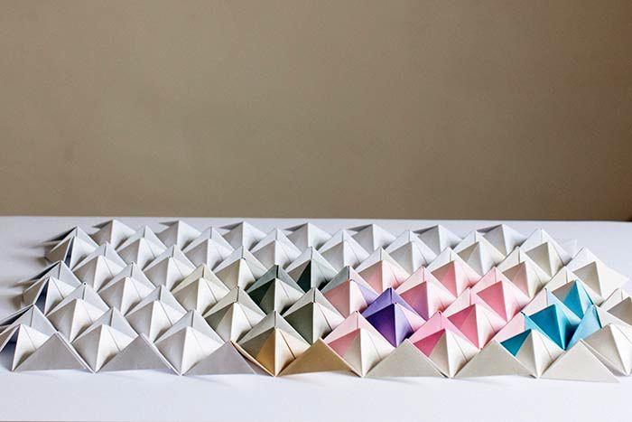 оригами на стену из бумаги 07