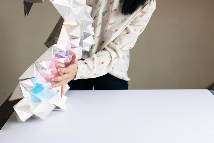 оригами на стену из бумаги 08