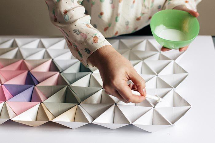 оригами на стену из бумаги 09