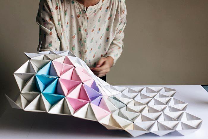 оригами на стену из бумаги 10