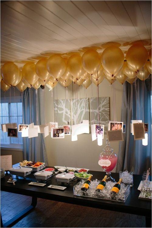 как украсить новогодний стол воздушными шариками