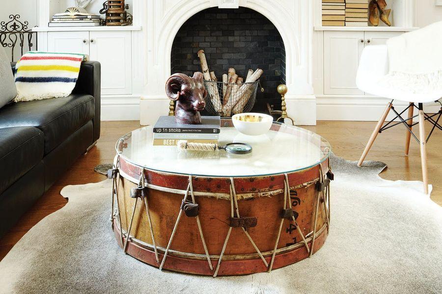 журнальный столик из барабана