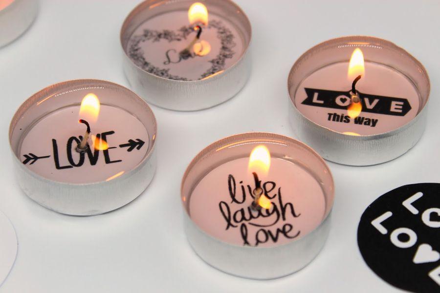 свечи-таблетки декорируем сами